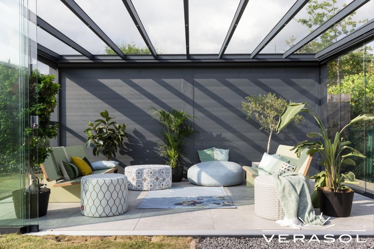 vrijstaande tuinkamer veranda