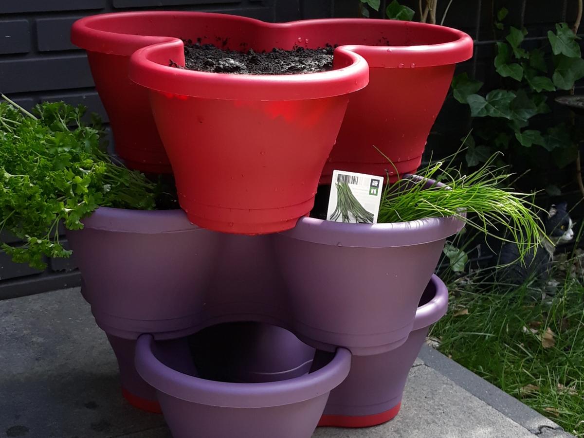 waterbesparende plantenbakken verticaal tuinieren